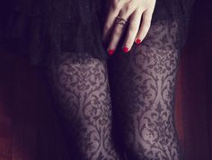 baroque patterned tights