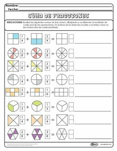 Discover thousands of images about Writing Equivalent Fractions Using Pie Model Math Games, Math Activities, Math Fractions Worksheets, Math Exercises, Third Grade Math, Math For Kids, Math Classroom, Kids Education, Math Lessons