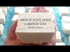 (791) JABÓN DE ACEITE USADO, Receta Clásica - YouTube Handmade Crafts, Diy And Crafts, Clean Living, Home Made Soap, Natural Cosmetics, Artisanal, Permaculture, Soap Making, Aloe Vera