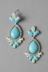Wagener Terrace Jeweled Drop Earrings- gorgeous color of blue and would look great with white!!!