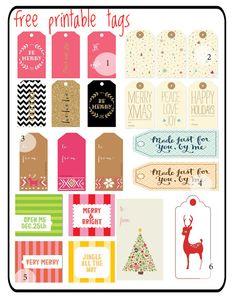 Christmas tag printables