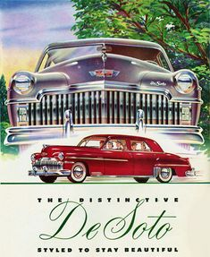 DeSoto Styled To Stay Beautiful - Mad Men Art: The 1891-1970 Vintage Advertisement Art Collection
