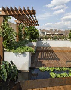 roger miller gardens / east village rooftop garden (architecture: pulltab designs)