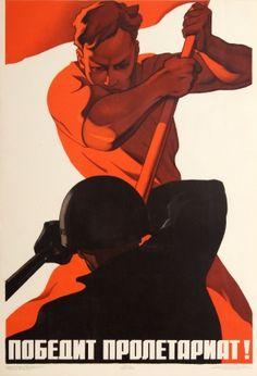 Anti Capitalist Proletariat Victory, 1965 - original vintage Soviet propaganda poster (one of a series) by V. Koretsky / E. Abezgus listed on AntikBar.co.uk