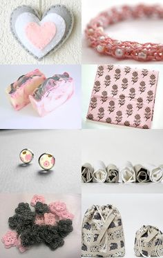 Christmas in July Pink and Gray--Pinned with TreasuryPin.com