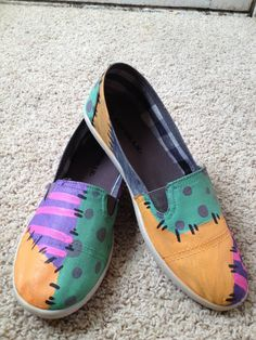 Nightmare Before Christmas inspired Sally Canvas Shoes (Airwalks) adorable!!