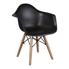 Kinderstoel Eames Junior Zwart