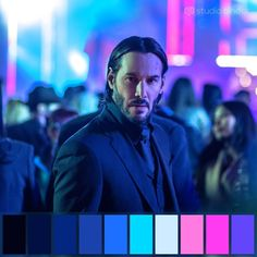 Keanu Reeves, King of Memes Movie Color Palette, Color Schemes Colour Palettes, Colour Pallette, Color In Film, Cinematic Lighting, Cinema Colours, Color Script, Cinematic Photography, Film Inspiration