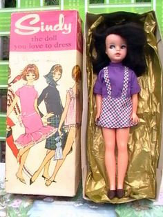 Vintage Pedigree SIDE PART SINDY DOLL, WITH BOX - 1960's 175+3.9 listed