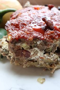 Keto Jalapeno Popper Stuffed Meatloaf Recipe dinner idea!