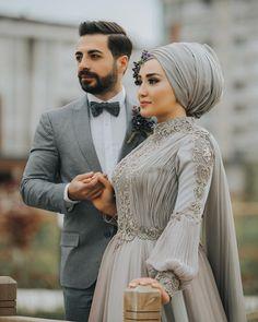 Likes, 49 Comments - Tülin Çakır Akgündoğdu (Tülin Çakır) on Insta. Hijab Dress Party, Muslim Wedding Dresses, Muslim Brides, Muslim Dress, Wedding Dress Chiffon, Bridal Hijab, Hijab Bride, Bridal Gowns, Couples Musulmans