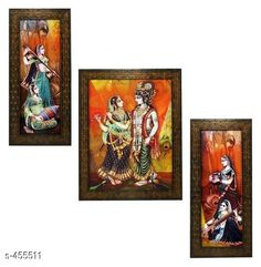 Paintings & Posters Stylish Wall Paintings (Set Of 3) Material: Wood and Plastic Dimension(LxW): Frame 1 - 12.5 in X 5.2 in Frame 2 - 12.5 in X 9.5 in Frame 3 - 12.5 in X 5.2 in Description: It Has 3 Pieces Of Frames With Paintings (Glass Is Not Included) Work: Printed Country of Origin: India Sizes Available: Free Size   Catalog Rating: ★4.1 (3479)  Catalog Name: Spiritual Wall Paintings Vol 10 CatalogID_49658 C127-SC1611 Code: 442-455511-