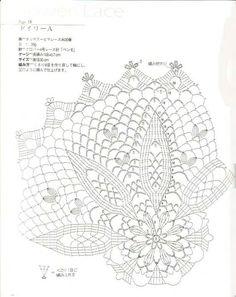 "Photo from album ""Ondori Crochet Lace on Yandex. Filet Crochet, Beau Crochet, Crochet Doily Diagram, Crochet Doily Patterns, Crochet Chart, Crochet Home, Thread Crochet, Knit Crochet, Russian Crochet"