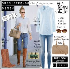 """""""SS2013TRENDS - DENIM"""" by cocolavieenrose ❤ liked on Polyvore"""