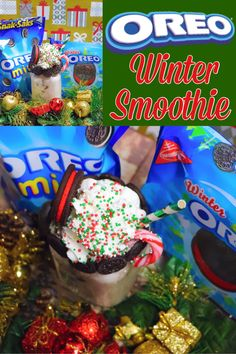 OREO WINTER SMOOTHIE #MERRYMEALS #CollectiveBias #ad @gianteagle