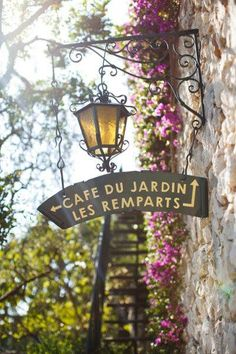 Cafe Du Jardin Les Remparts   Cafes   Cafes around the world   #cafes   www.foragekitchen.com