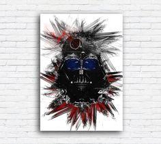Darth Vader Star Wars Watercolor Print Poster by MulticolourArt