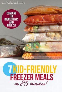 Make Ahead Freezer Meals, Dump Meals, Freezer Cooking, Crock Pot Cooking, Easy Meals, Healthy Kid Friendly Dinners, Freezer Meal Party, Freezer Friendly Meals, Slow Cooker Freezer Meals