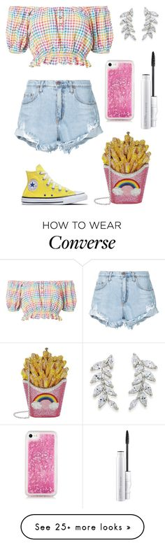 """Rainbow"" by brunaf19 on Polyvore featuring Caroline Constas, Nobody Denim, Judith Leiber, Carolee and MAC Cosmetics"
