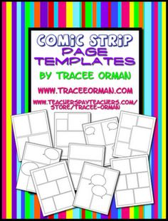 10 comic Book templates. Can make writing less intimidating for struggling writers!!