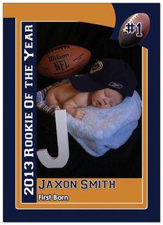 #Birth Announcement #Rookie Card Birth announcement www.customsportscards.com http://www.customsportscards.com/select.cfm/Custom-Trading-Cards/Birth-Announcements/