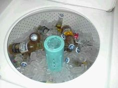 Use your washing machine as a cooler. | 27 Best Summer Party Hacks