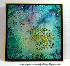 Leafy Sea Dragon Leafy Sea Dragon, Underwater Background, Sea Life Art, Sea Art, Horse Cards, Gelli Plate Printing, Nautical Cards, Lavinia Stamps, Beautiful Dragon