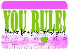 you rule lots of free printable teacher appreciation gift ideas pinkpeppermintprints.com