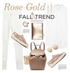 """Fall Trend: Rose Gold"" by barngirl ❤ liked on Polyvore featuring Acne Studios, Superga, Henri Bendel, Linda Farrow, Hoorsenbuhs, LJ Cross, Alexander Wang, Mara Hotung and Swarovski"