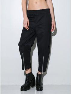 wide leg track pant black