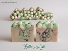 Butter Mints samples - #sapolina  #handmade #cp_soap #sample_soap