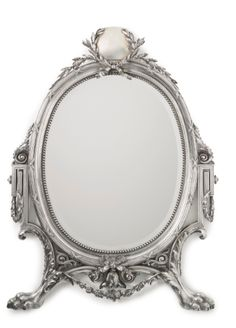 Russian Silver-Mounted Mirror, Robert Colqhuon for Nichols & Plinke, St. Petersburg, circa 188