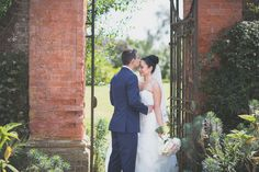 Stealing a kiss at Barnett Hill; a country house wedding venue near Guildford, Surrey. Country House Wedding Venues, Hotel Wedding Venues, Surrey, Vows, Perfect Wedding, Reception, Wedding Day, Celebrities, Wedding Dresses