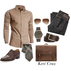 A fashion look from December 2014 featuring John Lobb shoes, Emili handbags and Rayban sunglasses. Browse and shop related looks.