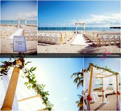 A Key West ceremony setup at the Casa Marina Resort. Photography by Studio Julie- #florida #wedding #venues, #florida #wedding