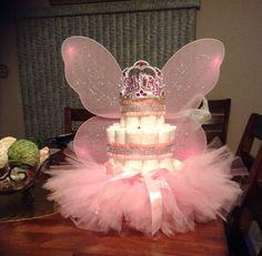 3 Tier Diaper Princess cake - baby shower - Baby Tips Baby Shower Crafts, Baby Shower Gift Basket, Baby Girl Shower Themes, Baby Shower Princess, Baby Shower Diapers, Shower Gifts, Shower Baby, Princess Diaper Cakes, Baby Girl Cakes
