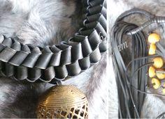 Chambre à air et perles africaines - Camera d'aria e perline africane - Binnen band en kralen uit africa - Inner tube and african pearls.