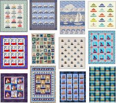 Free patterns:  Sailboats and nautical quilts.  Updated March 22, 2015