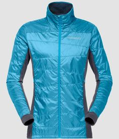 This lightweight and highly breathable insulation jacket for women, can be worn alone or as a mid layer. The Polartec® provides good insulation even when wet, it's very quick drying and has a higher warmth-to-weight ratio than fleece. Cool Jackets, Jackets For Women, Types Of Insulation, Gore Tex Jacket, Op Logo, Lining Fabric, Blue Moon, Hand Warmers, Motorcycle Jacket