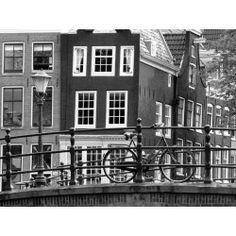 Vlies fotobehang Amsterdam Zwart Wit