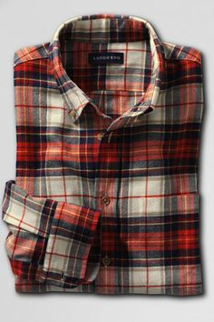 Sam loves plaid shirts. This one has both colors and neutral tones that fit with his preferences.