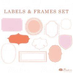 Digital Frame Clip Art Labels by ShhMakerDesign on Etsy, $7.00