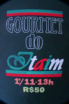 Divulgação de Gourmet Italiano no Método DeRose Itaim - caneta chalk
