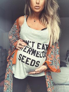 Don't Eat Watermelon Seeds Funny Maternity Shirt