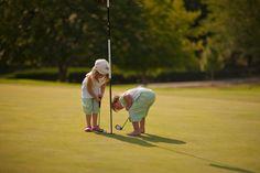 Putting it in starts early, practice, practice. Kids Golf, Play Golf, John Boy, Popular Sports, Little Birdie, Putt Putt, Hole In One, Art Series, Random Thoughts
