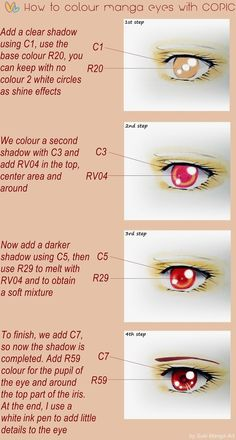 Copic Marker Europe: Tutorial, How to colour manga eyes with Copic, by Suki Manga Art