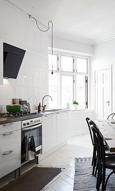 White kitchen white floors white walls