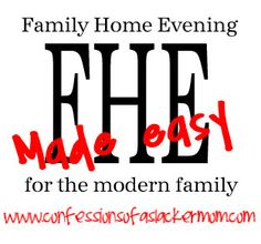 FHE Made Easy - simple family home evening lessons for the entire year! FREE each week or $10 for the year!