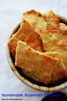 Homemade Rosemary Crackers - for egg salad, tuna salad, soup or with a side salad