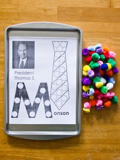 Toddler General conference idea. Magnets, pom poms, or do-a-dot General Conference themed pages- so excited, Becca always wants to do gen conf packet like the kids, but this is something she can understand :)
